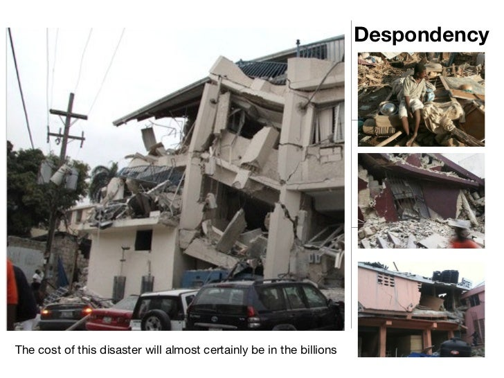 Despondency The cost of this disaster will almost certainly be in the billions