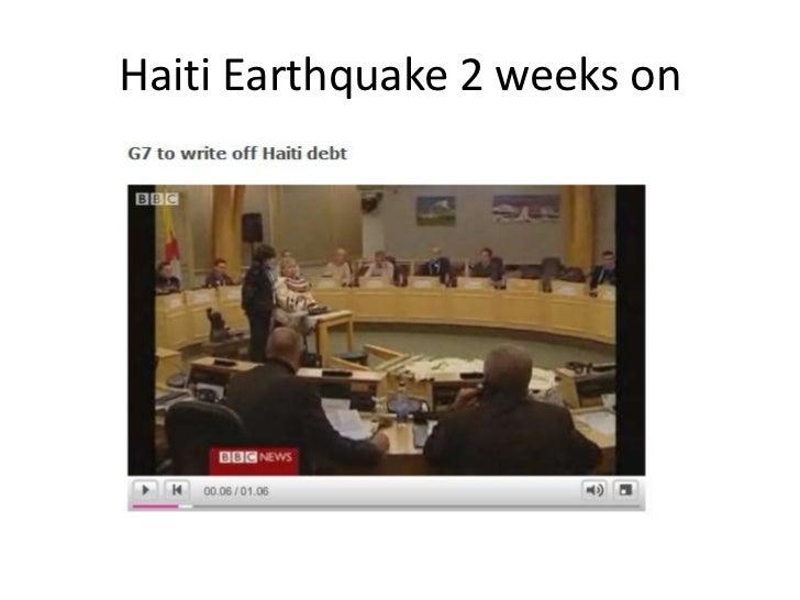 Haiti Earthquake 2 weeks on<br />