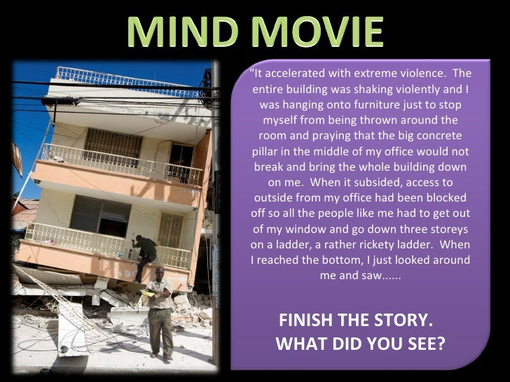 """"""" It accelerated with extreme violence.  The entire building was shaking violently and I was hanging onto furniture just t..."""
