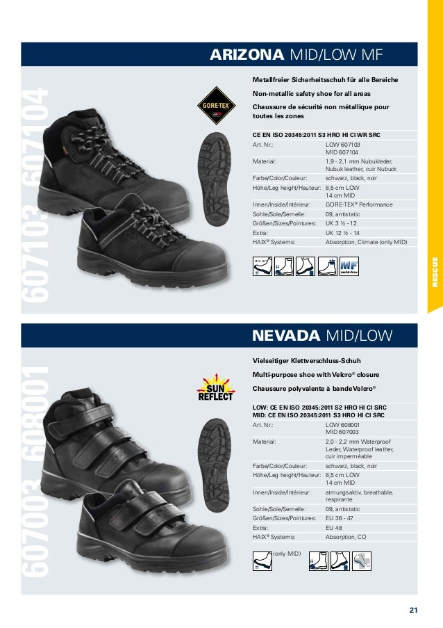 Agrar, Forst & Kommune Haix Arizona Low Mf S3 Uk 14 Eu 50 Us 15 Arbeitschuhe Leder Schuhe Neu! Business & Industrie