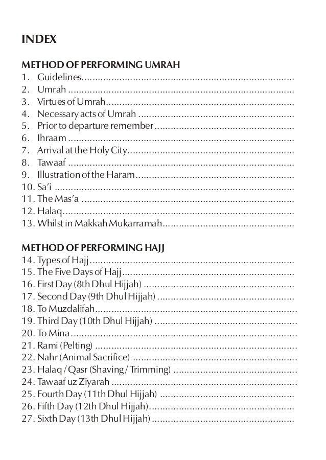 Hajj or Umrah Tour Plan - Guide Book