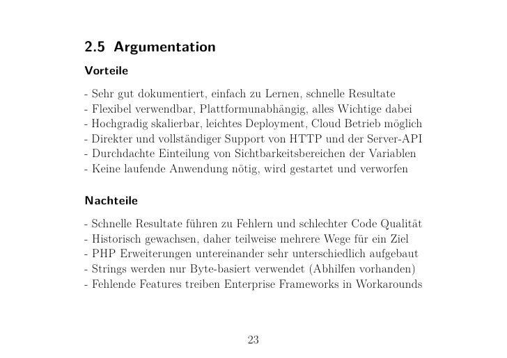 2.5 ArgumentationVorteile- Sehr gut dokumentiert, einfach zu Lernen, schnelle Resultate- Flexibel verwendbar, Plattformuna...