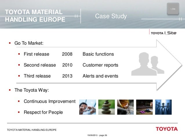 TOYOTA MATERIAL HANDLING EUROPE  I_Site MAIN  Case Study   Go To Market:  First release  2008  Basic functions   Second...
