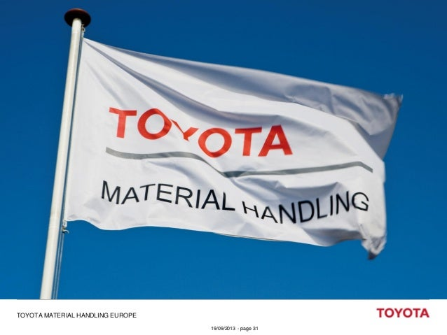 TOYOTA MATERIAL HANDLING EUROPE 19/09/2013 - page 31