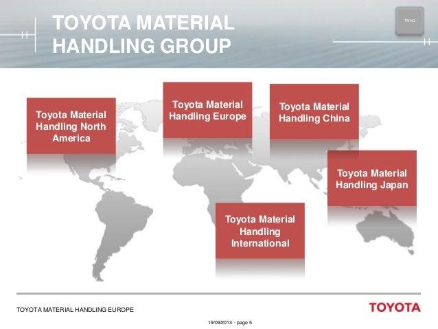 TOYOTA MATERIAL HANDLING GROUP  Toyota Material Handling North America  Toyota Material Handling Europe  TMHG MAIN  Toyota...