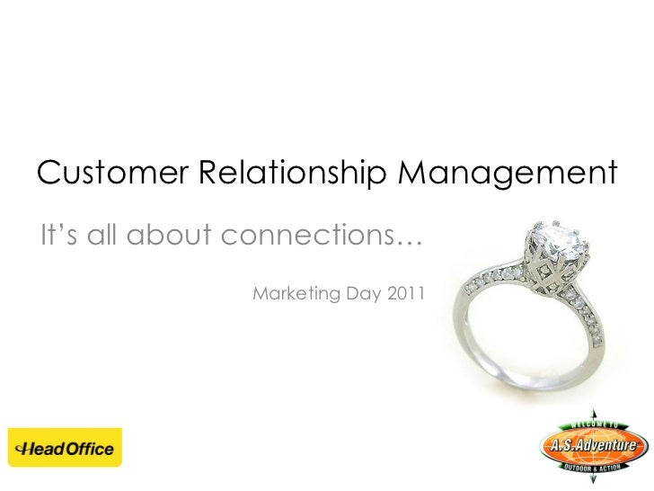 Customer Relationship Management It's  all about connections… Marketing Day 2011