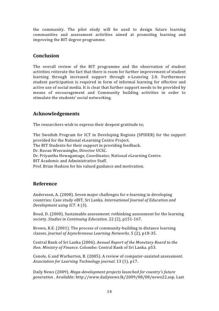 improving student learning through assessment for learning using soci learning in 13 14 the