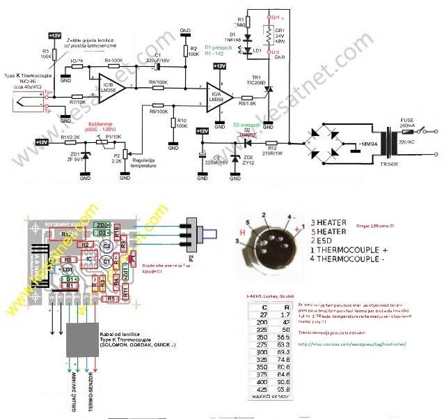 Hakko 936 Gordak 952 Diy Analog Soldering Station Schematic