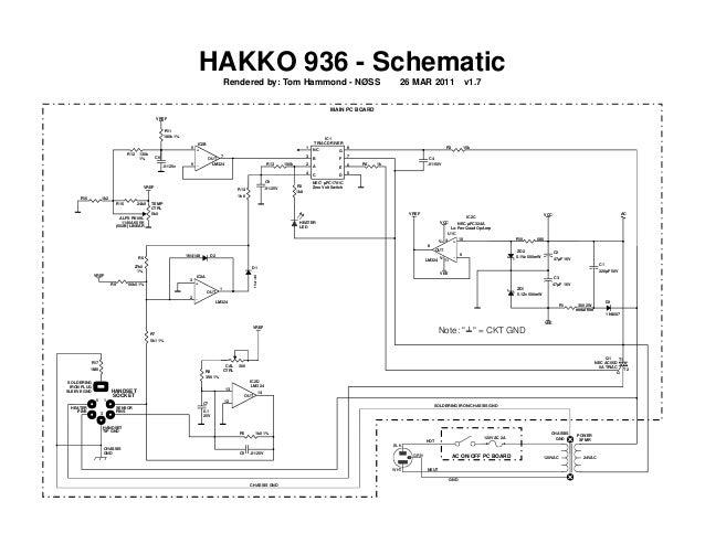 Hakko 936 schematic on