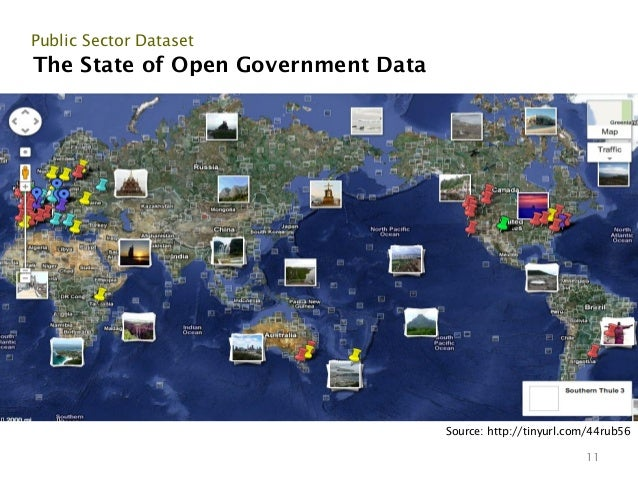Public Sector DatasetThe State of Open Government Data                                    Source: http://tinyurl.com/44rub...