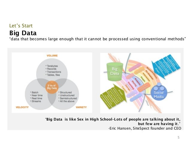 """Let's StartBig Data""""data that becomes large enough that it cannot be processed using conventional methods""""                ..."""