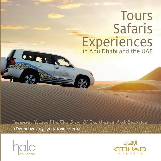 Tours Safaris Experiencesin Abu Dhabi and the UAE 1 December 2013 - 30 November 2014
