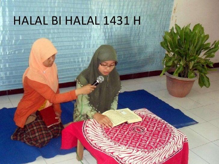 HALAL BI HALAL 1431 H<br />