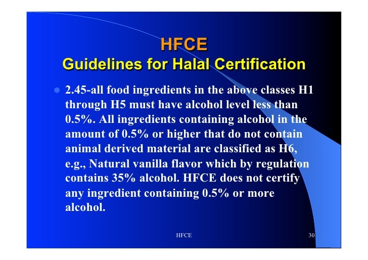 Halal for the Food & Chemical Industry 2012