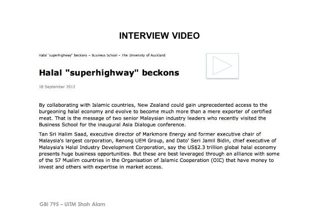 INTERVIEW VIDEOGBI 795 – UiTM Shah Alam