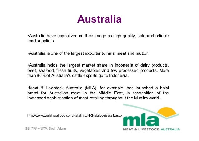 Australia •Australia have capitalized on their image as high quality, safe and reliable food suppliers. •Australia is on...