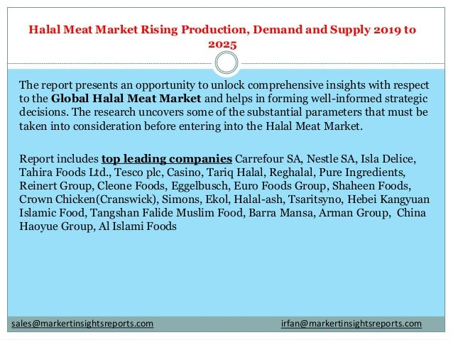 Halal Meat Market Rising Production, Demand and Supply 2019