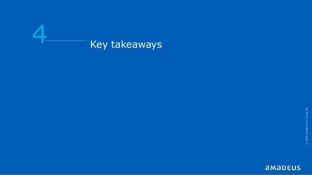 Key takeaways 4 ©2016AmadeusITGroupSA