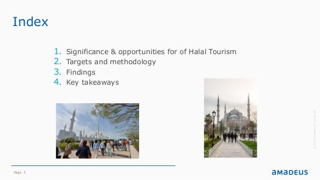 Page 3 Index 1. Significance & opportunities for of Halal Tourism 2. Targets and methodology 3. Findings 4. Key takeaways ...