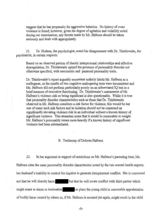 Final Divorce Order Halburn v  Halburn 11d-516