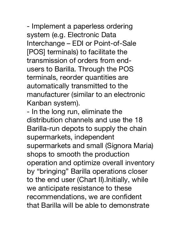 Barilla SpA Case Study Report SCRIBD | Retail | Economic ...