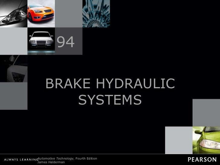 BRAKE HYDRAULIC SYSTEMS 94