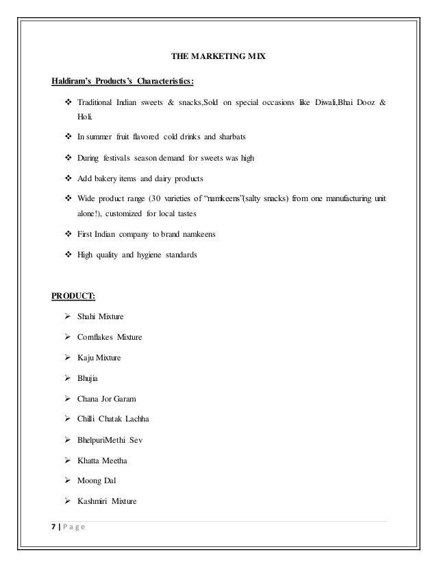 A study on Haldiram