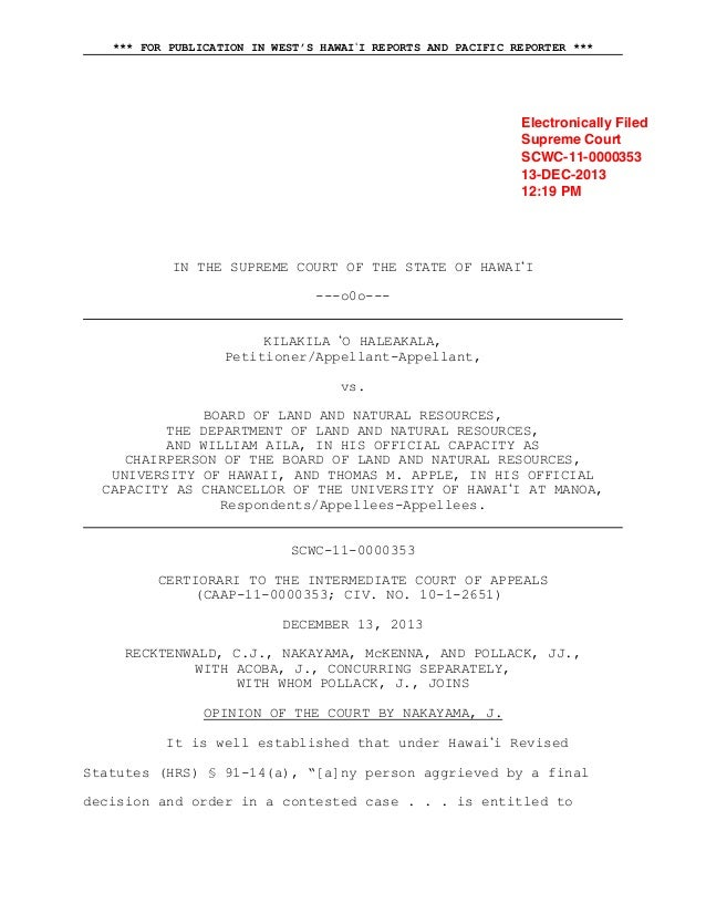 *** FOR PUBLICATION IN WEST'S HAWAII REPORTS AND PACIFIC REPORTER ***  Electronically Filed Supreme Court SCWC-11-0000353 ...