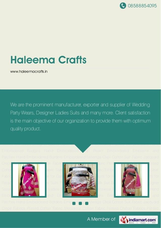 08588854095A Member ofHaleema Craftswww.haleemacrafts.inDesigner Ladies Suits Punjabi Suits Women Silk Suit Banarsi Silk S...