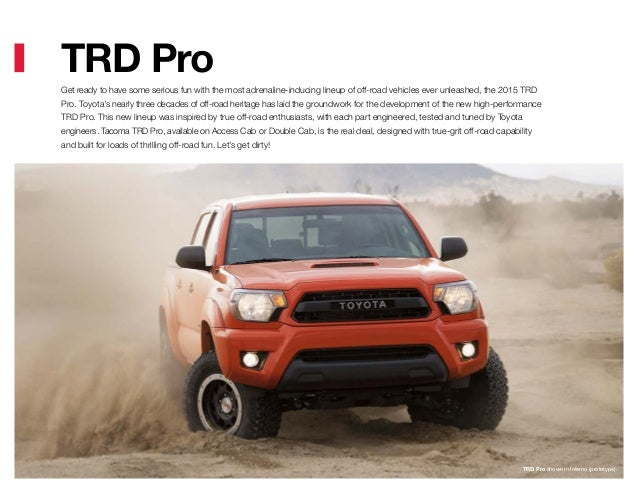 Toyota Tacoma Brochure From Haley Toyota Roanoke
