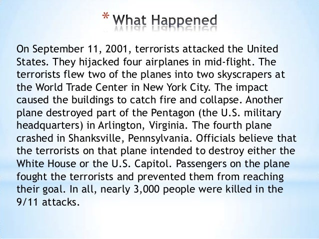 powerpoint 3 on 11 2001 terrorists attacked
