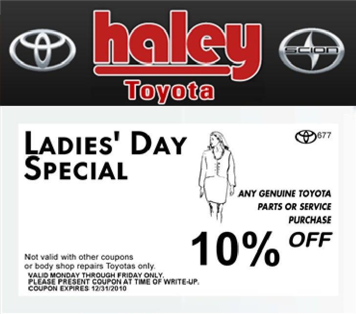 Ladies Day Special Haley Toyota Richmond Va