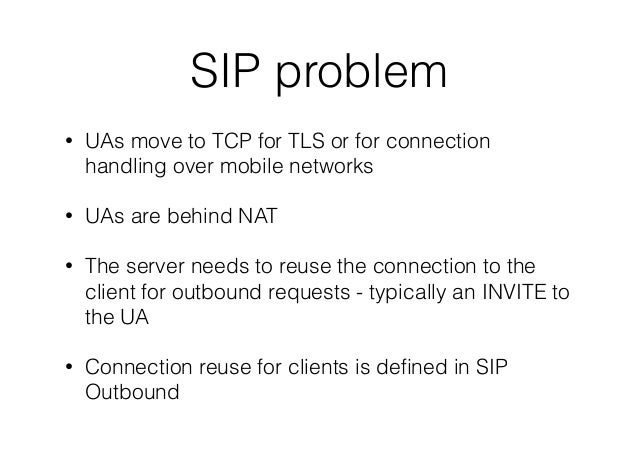 SIP :: Half outbound (random notes) Slide 2