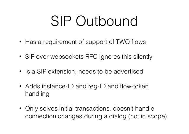 SIP :: Half outbound (random notes) Slide 3