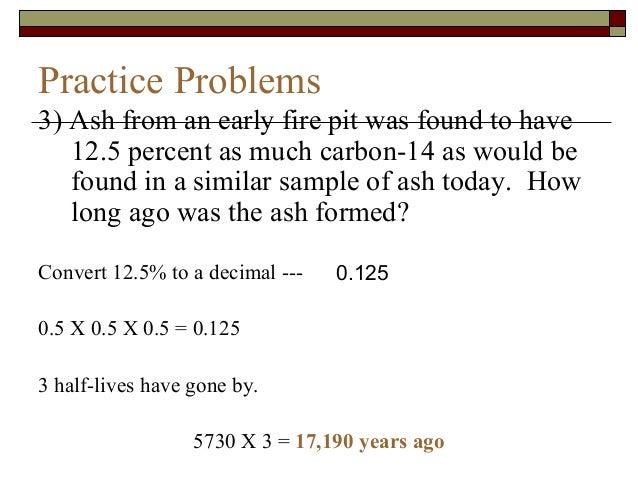 Radiocarbon dating sample problems