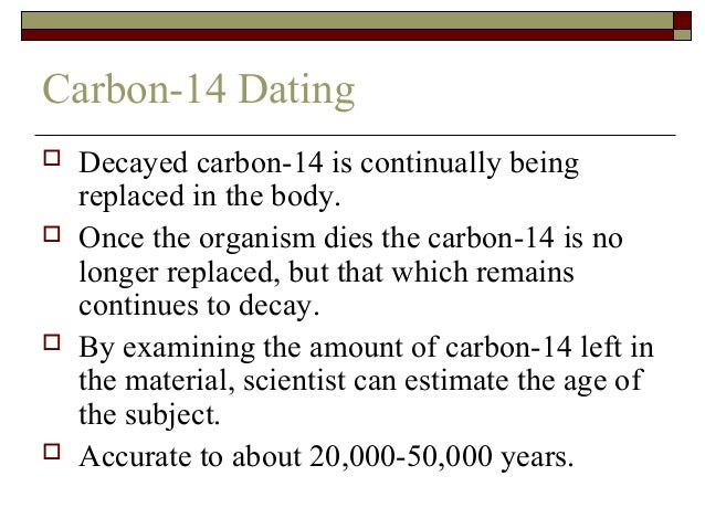 How to do carbon dating problems