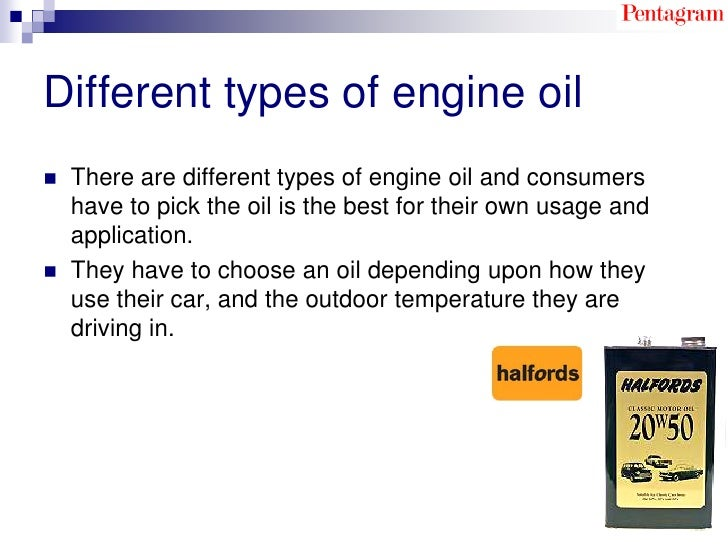 Halfords motor oil redesign and re branding of an existing for Types of motor oil