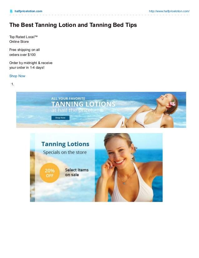 Halfpricelotion.com Http://www.halfpricelotion.com/ The Best Tanning ...