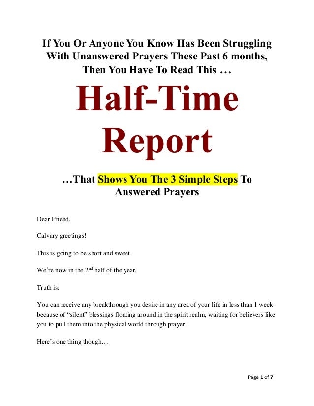 Page 1 of 7 If You Or Anyone You Know Has Been Struggling With Unanswered Prayers These Past 6 months, Then You Have To Re...