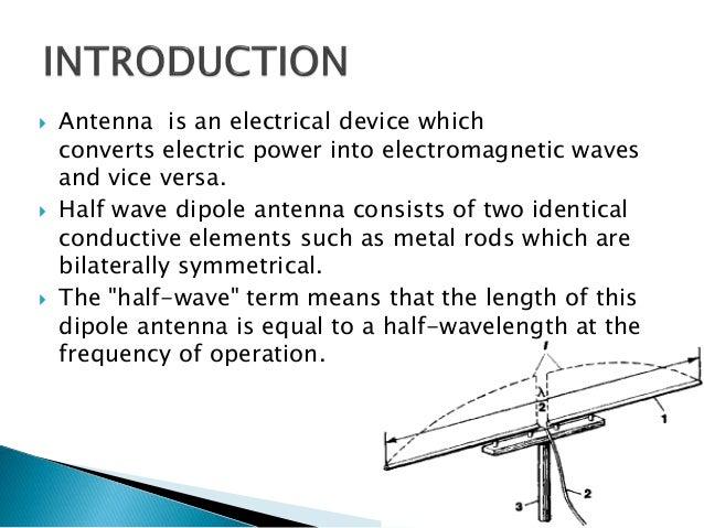Half wave dipole antenna