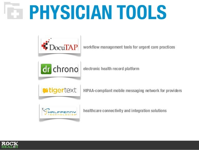 PHYSICIAN TOOLS workflow management tools for urgent care practices electronic health record platform HIPAA-compliant mobil...