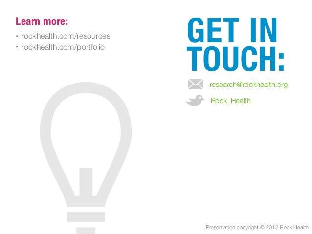 Rock Health 2012 Midyear Funding Report
