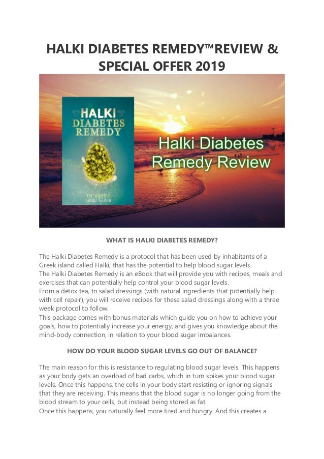 Availability Halki Diabetes