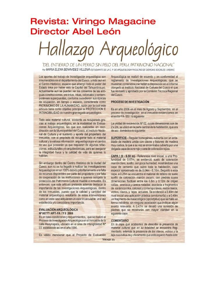 Revista: Viringo Magacine Director Abel León