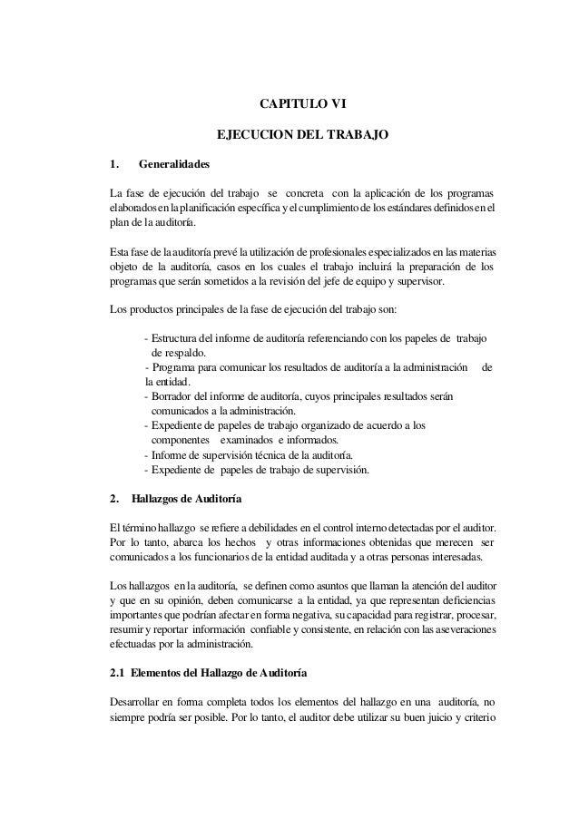 Hallazgos Y Evidencias De Auditoria