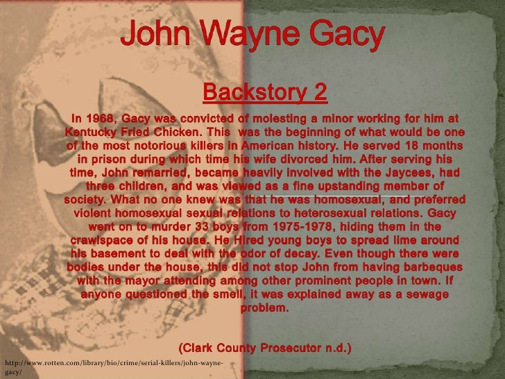 choice theory on john wayne gacy John wayne gacy, jr (march 17, 1942 – may 10,  john gacy was brought to trial on  this knowledge had led to the theory gacy may have been connected to this.