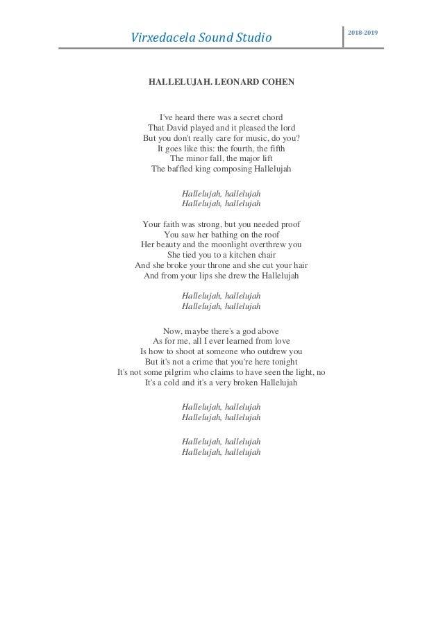 leonard cohen hallelujah text deutsch