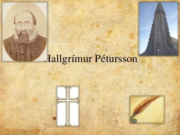 Hallgrímur Pétursson <br />