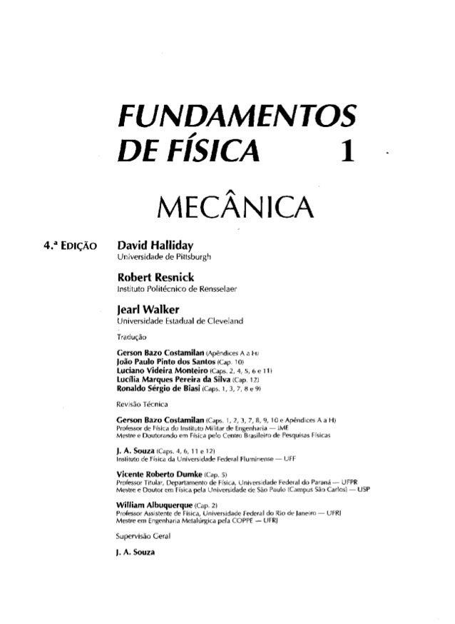 Física - [Halliday, david. resnick, robert. walker, jearl] fundamentos de física 1   mecânica