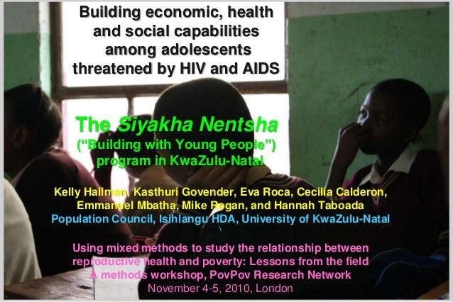 Kelly Hallman, Kasthuri Govender, Eva Roca, Cecilia Calderon, Emmanuel Mbatha, Mike Rogan, and Hannah Taboada Population C...
